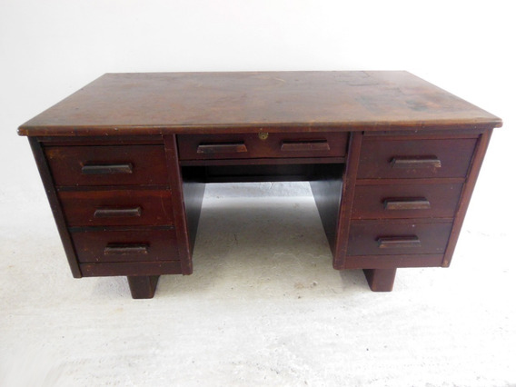 Escrivaninha Antiga Em Madeira Móveis Ritzmann