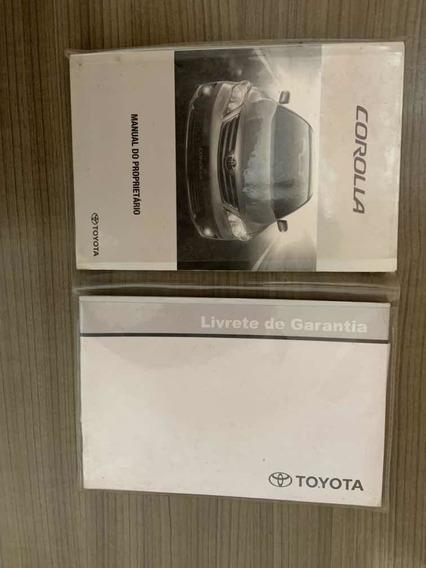 Manual Do Proprietário Toyota Corola R$ 120,00
