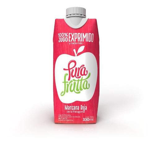 Imagen 1 de 5 de Pura Frutta Jugo 100% Exprimido Manzana Roja X 330 Ml