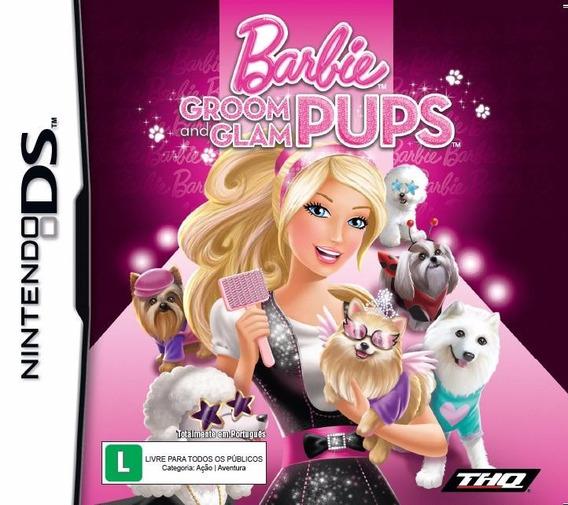 Barbie Groom And Glam Pups Nintendo Ds Nds Original Lacrado