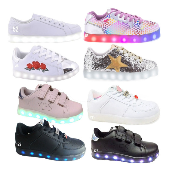 Zapatillas Footy O 47 Street Luces Luz Led Talle 32 Mmk
