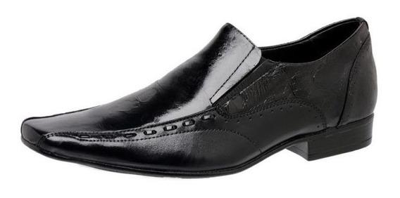 Sapato Masculino Couro Úmbria Preto 760420 - Frete Grátis