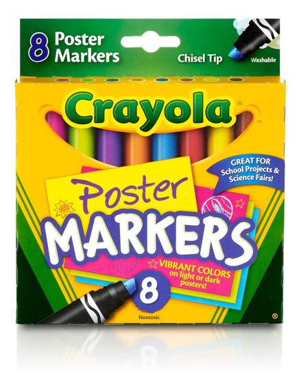 Marcadores Lavables Poster Crayola X8
