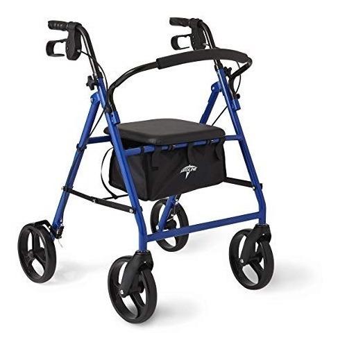 Andador Medline Caminador Andadera Color Azul Plegable