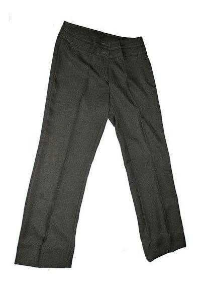 Pantalón De Vestir T 40 Verde Poliester Algod