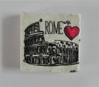 Iman Italiano Refrigerador Coliseo Romano, 100% Original