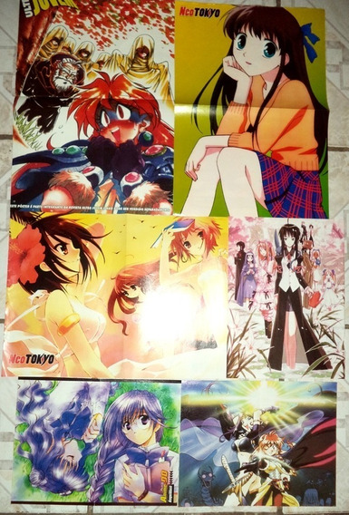 Lote Poster Anime Fruit Basket Slayers Suzumiya Ultra Jovem