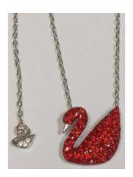 Collar Cisne Rojo De Plata 925