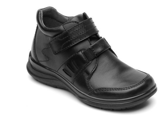 Zapato Niño Escolar Piel 402105 Flexi Negro