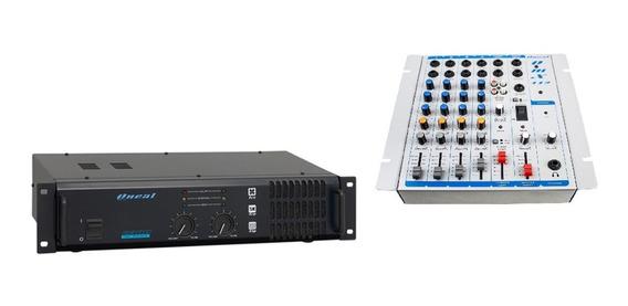 Amplificador Potencia E Mesa Profissional Oneal 4 Canais