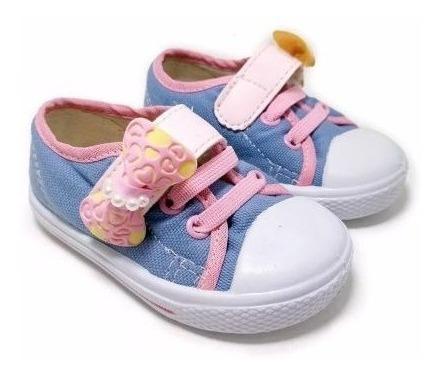 Tênis Infantil Meninas Baby Kimimo 642.32 Jeans