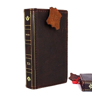 Genuine Real Leather Case For iPhone 5s 5c Se Bible Book Wal