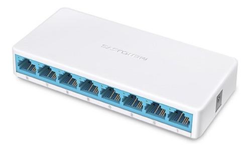 Imagen 1 de 4 de Switch 8 Puertos 10/100 Mbps Mercusys Ms108 Desktop