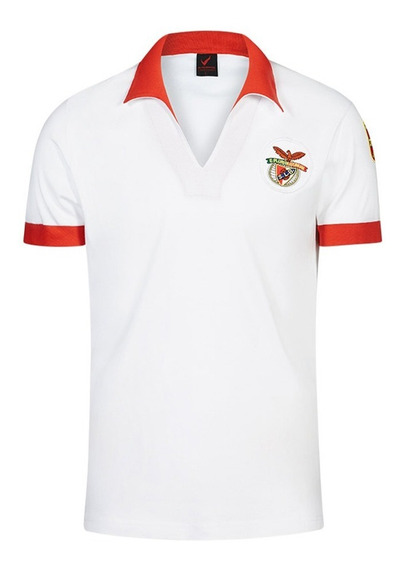 Camisa Retrô Benfica Branca 1980
