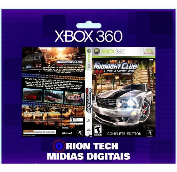 Midnight Club Xbox 360 Original - Mídia Digital
