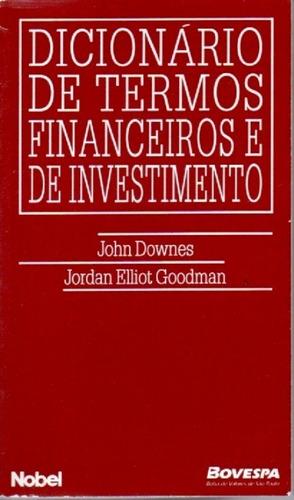 Imagem 1 de 1 de Livro Dicionario De Termos Financeiros E De Investimento