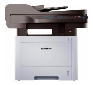 Impresora multifunción Samsung ProXpress SL-M4072FD con wifi 220V blanca y negra