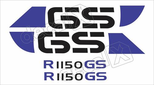 Emblema Adesivo Bmw R1150gs Branca E Azul Par Bwf1150gs3