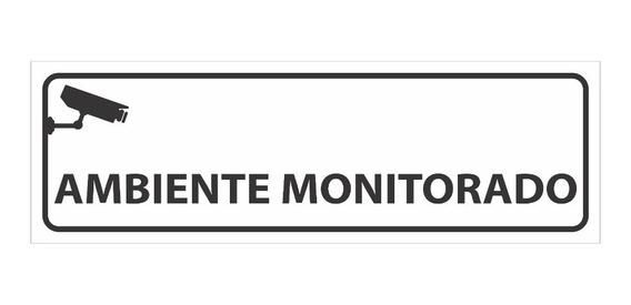 Placa Sinalização Loja Empresa Ambiente Monitorado Câmera