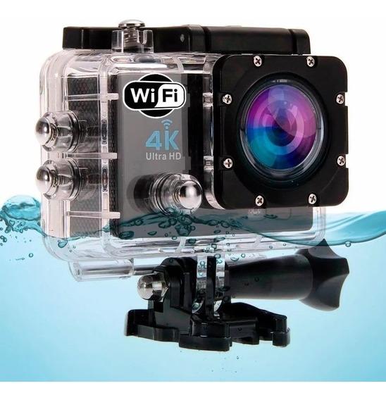 Câmera De Ação 4k Wifi Filmadora + Bat/ Carregador Extra