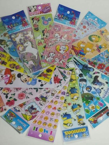 Adesivos Infantis Kit Personagens Com 300 Cartelas