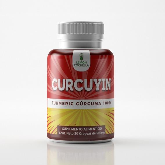 Curcuma Curcuyin. 1 Frasco Con 30 Grageas De 500 Mg.