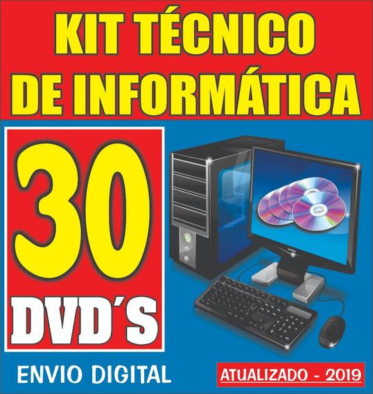 Kit Técnico De Informática 30 Dvd´s / Envio Digital Imediato