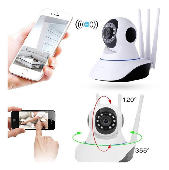 Camara Seguridad Hd Motorizada Ip Wifi Vision Nocturna 3 Ant