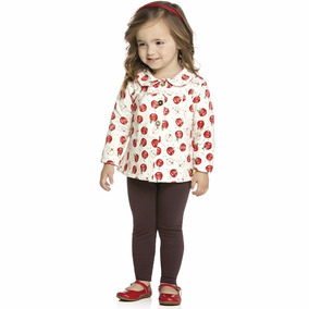 Conjunto Infantil Feminino Casaco Legging Molecotton 04 A 08
