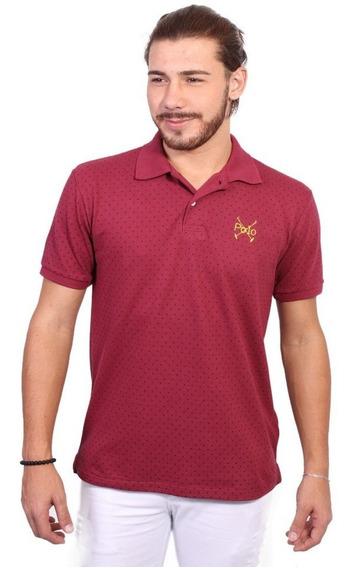 Camisa Polo England Polo Club Full Print Vinho
