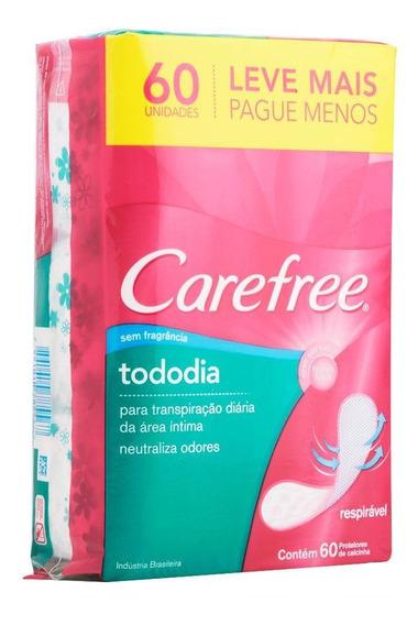 Protetor Diário Carefree Todo Dia Sem Perfume 60 Unidades