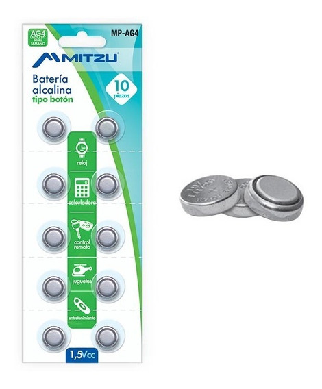 Blister 10 Baterias Pilas Para Reloj Estandar Ag4 Lr626 377a