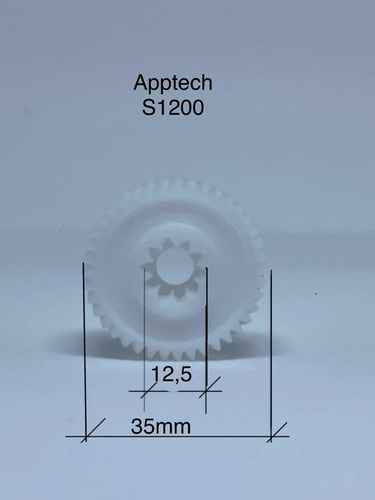 Engrenagem Para Fragmentadoraapptech S1200