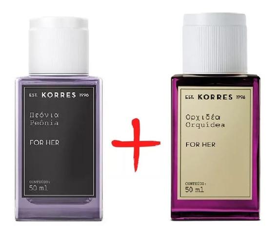 Kit 2 Perfume Feminino Korres Orquidea E Peônia50ml Cada
