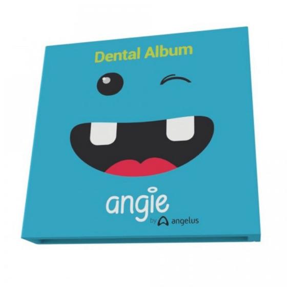 Álbum Do Dentinho Com Porta Dentes - Azul