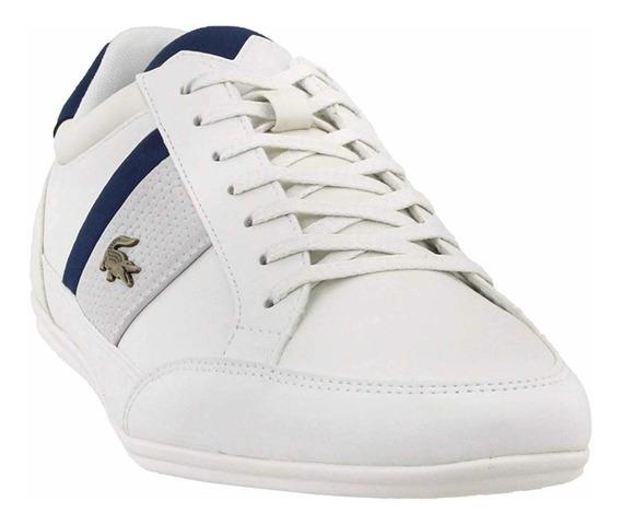 Tenis Para Hombre Lacoste Chaymon Blanco Casual Tipo Zapato