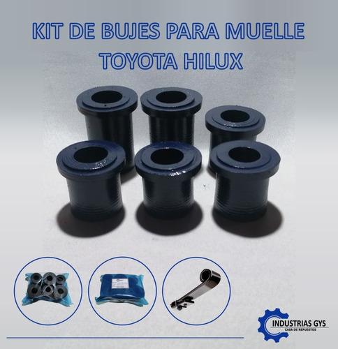 Imagen 1 de 1 de Kit De Bujes De Caucho Para Muelle De Toyota Hilux 4x4