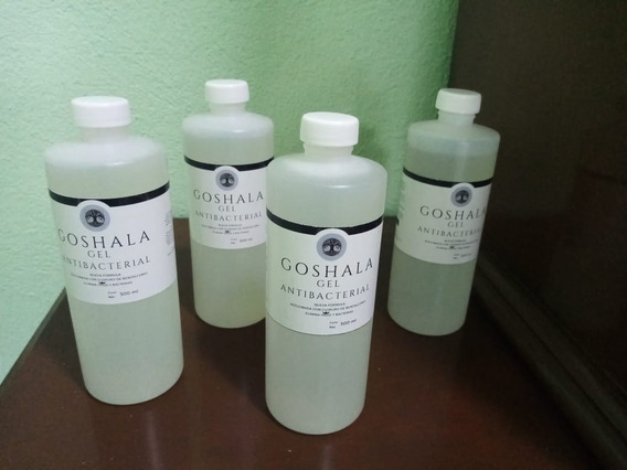 (5 Unidades)gel Antibacterial 500 Ml - Adicionado Con Benzal