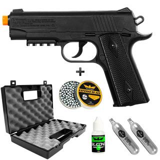 Pistola 4.5 Co2 Remington 1911 + Maleta +co2+ 300bb+silicone