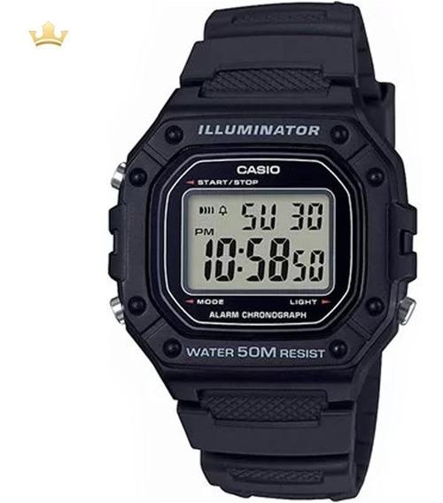 Relógio Casio Masculino W-218h-1avdf Com Nf