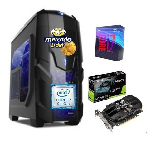 Imagen 1 de 2 de Computador Cpu Gamer Intel Corei7 9na 1tb+ssd240 8gb Gtx1050
