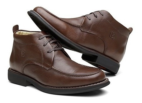 Sapato New Holland Masculino Em Couro Floater Brown