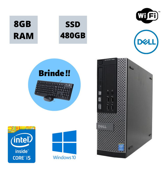 Pc Desktop 7020 I5 3.3ghz 8gb Ram Ssd 480gb Win 10 Brinde