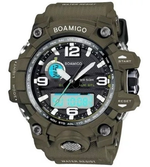 Relógio Masculino Boamigo F5100 Anti Shock Militar Esportivo