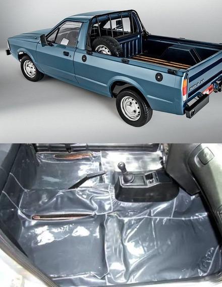 Tapete Verniz Grafite Assoalho Ford Pampa C/console Todos