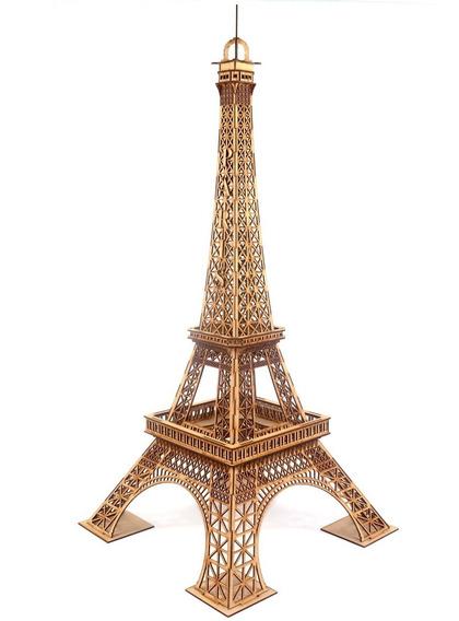 Torre Eiffel 2 Metros Modelo Realista De París Francia Mdf