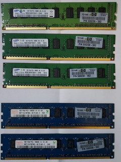 Memorias Ram 1gb Ddr3 Ecc 1333mhz (pc3-10600e) Samsung Hynix