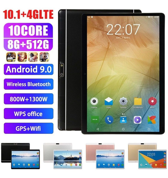 Tablet Mediatek 512gb,8ram,4g,2chip,entrada Pra Cartão Etc.