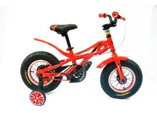 Bicicleta Rodado 12 Fat Bike Niños Rueda Ancha Con Rueditas