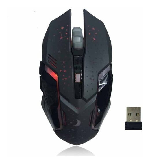 Mouse Gamer Wireless Recarregavel 3200dpi 2.4g 10m